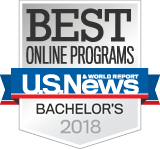 Ranked as a top online university by U.S. News & World Report since 2013